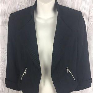 WHBM Black Cropped Blazer